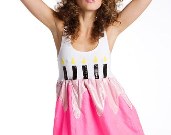 Limited Edition New York Couture PASTEL Pink Birthday Cake Dress