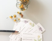 Herb collection labels, garden harvest tags, plant medicine, herbalist, nature gift, herb storage, medicinal plants, forager