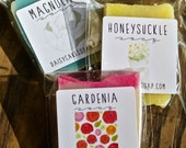 Southern Scents Soaps, Set of 3 Mini Magnolia, Gardenia and Honeysuckle