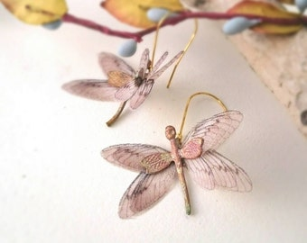 Exotic Dragonfly Earrings Earth