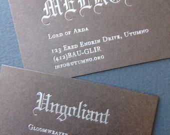Melkor/Ungoliant card pair brown