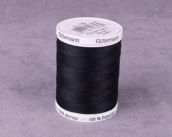 Black Gutermann Polyester Thread 1000 Yards (GT1000B)