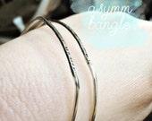 asymm bangle bracelet: sterling silver bangle