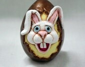 Bunny Easter egg paperclay TDozier