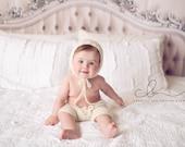 Knit Pattern Baby Bonnet Bottoms Hat Pants