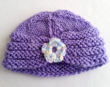 Knit Pattern, Baby Hat Pattern, Knitted Baby Turban, Simple Knit Hat for Baby, Easy Knitting Pattern