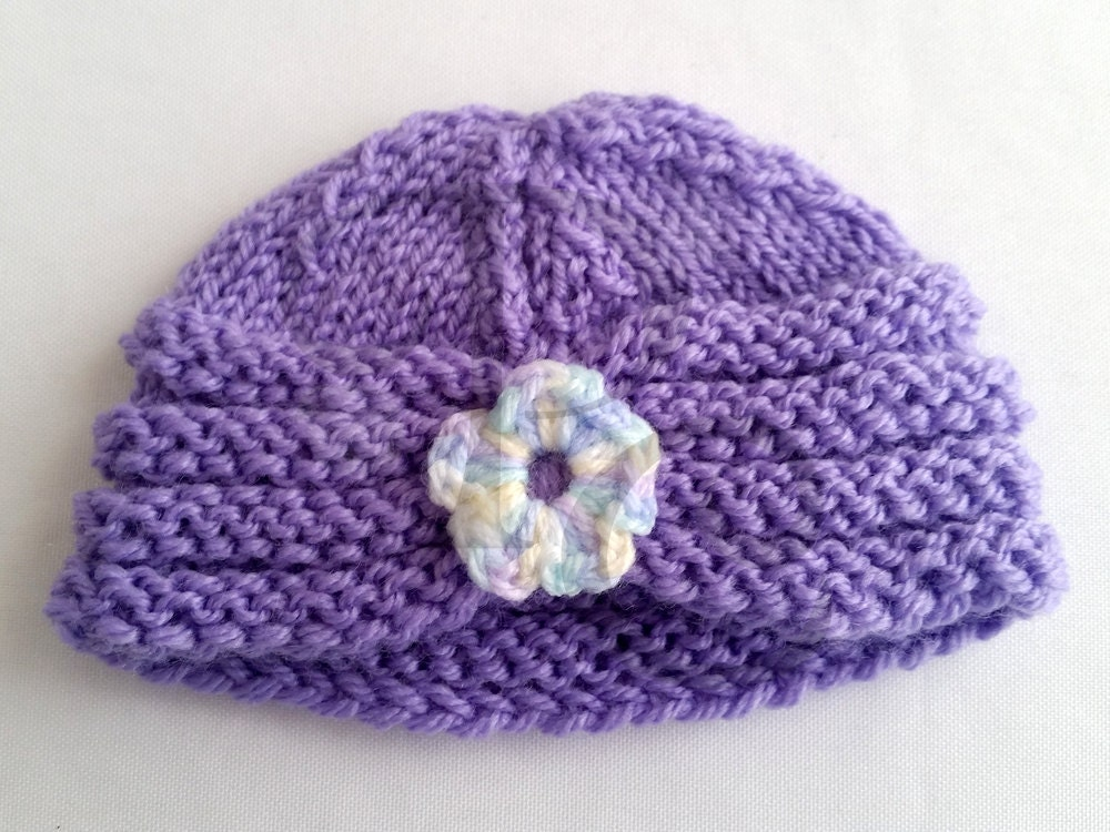 Knit Pattern Baby Hat Pattern Knitted Baby Turban Simple