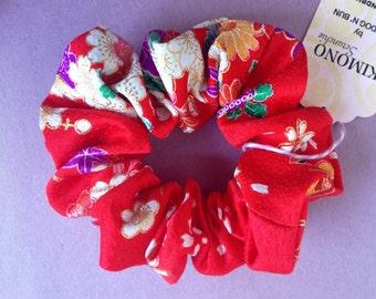 Japanese kimono print scrunchie