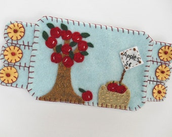 Apple Mug Rug Etsy