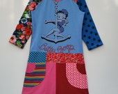 Size 10 (55 inch height) upcycled girls dress with Disney print Betty Boop