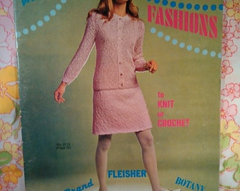 Bucilla Presents Preview Fashions to Knit or Crochet - 1969 - Vintage Knitting Patterns