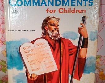 The Ten Commandments for Children - Mary Alice Jones - Robert Bonfils - 1956 - Vintage Book
