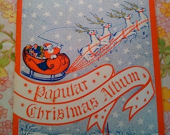 Popular Christmas Album - John W. Schaum and Wesley Schaum - 1986 - Vintage Book