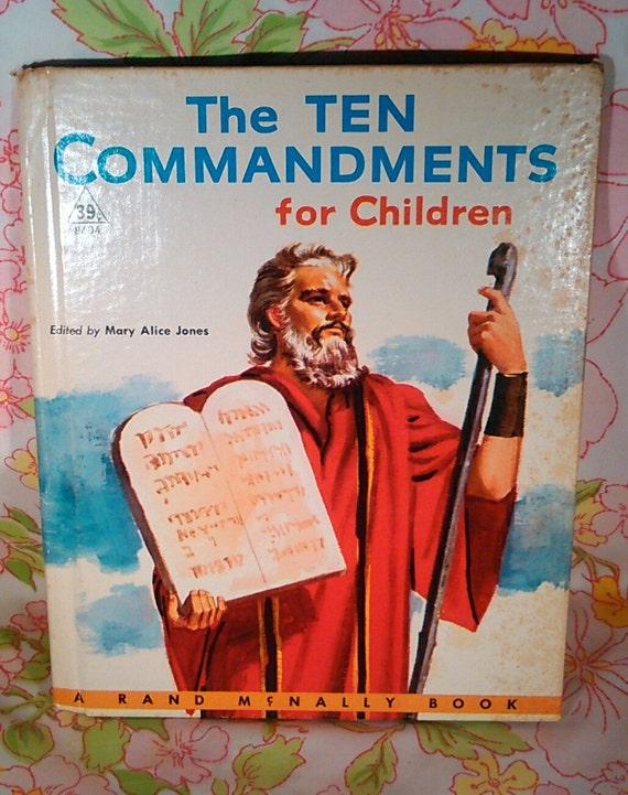 The Ten Commandments for Children - Mary Alice Jones - Robert Bonfils - 1956 - Vintage Kids Book