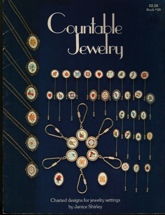 Countable Jewelry Charted designs for jewelry settings - Janice Shirley - 1981 - Vintage Book