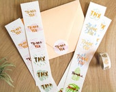 Set of 22 Gold Foiled Thank You Stickers