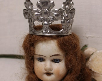 Doll crown silver steel regal renaissance queen
