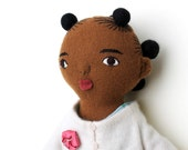 Black Girl doll wool Spring clothes