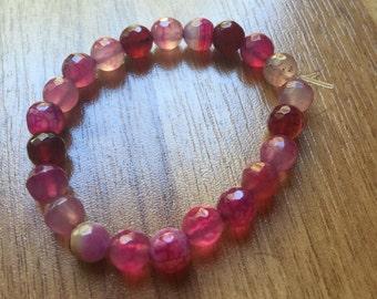 Handmade Cherry Quartz Stretch Bracelet