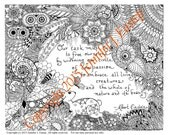 Circle of Compassion Coloring page