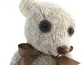 Recycled Wool Sweater Jointed Teddy Bear Named Gentle Ben - Plush Hand Sewn Toy