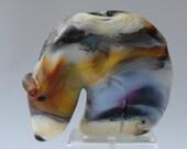 Sale: Glass Spirit Bear Fetish Southwestern Style Handmade Bead or Sculpture by Marcy Lamberson