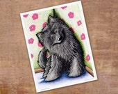 Signed Mini Kini Belgian Sheepdog Puppy Art PRINT