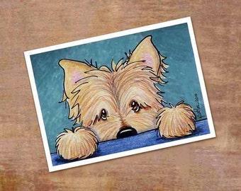 Cairn Terrier Signed KiniArt Dog Art PRINT