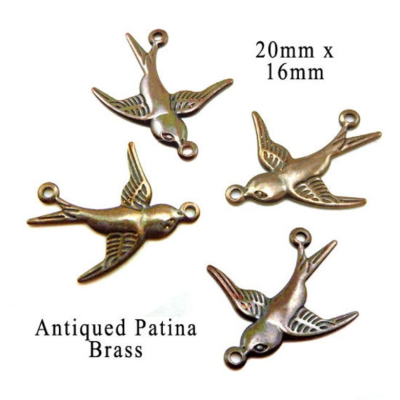 patina brass sparrow connector links