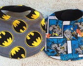 Batman Baby Bib Set of 2 Infant Bibs with Velcro fastening
