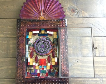 Mosaic Boho Dream Catcher Shrine
