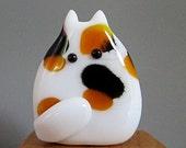 Calico Cat Bead Handmade Lampwork Focal by teribeads - Selena FatCat