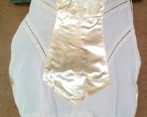 Vintage 1950s Girdle Corset Shaper Open Bottom Control Panel Garters 33 Waist 2016209