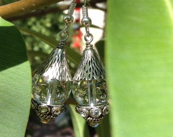 Rhiannon - quartz dangle earrings