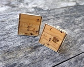 Recycled wine cork mosaic cufflinks