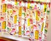 Cafe Curtains - Cowgirl - Western - Retro Pinup Girls - PAIR of 2 Panels