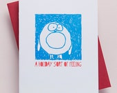 BOXED SET OF 6 - Penguin Holiday Card