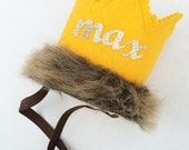 GOLD Original MAX Crown Where the Wild Things Are headband crow Smash Cake Photoprop