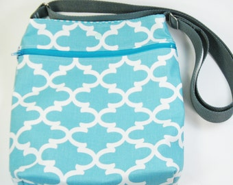Across Body Bag / Over the Shoulder Bag / Crossbody Handbag - Blue Fulton
