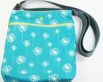 Across Body Bag / Over the Shoulder Bag / Crossbody Handbag - Teal Dandi