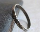Sterling Silver Saltire Patterned Ring, Oxidized Sterling Stripes X Pattern Ring Band, Stackable Sterling Ring, St. Andrew's Cross Scotland