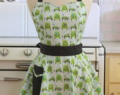 The BELLA Vintage Inspired Green Chairs Full Apron