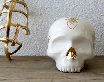 Gold Insect Beetle Skull