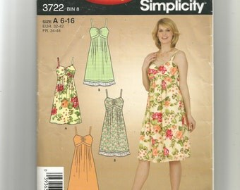 Simplicity Misses'  Dress Pattern 3722