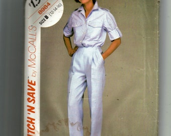 McCall's Misses' Shirt and Pants Pattern 8984