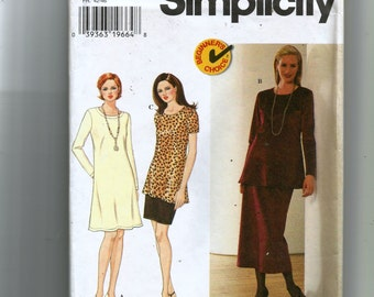 Simplicity Misses' /Miss Petite Knit Dress, Tunic and Skirt Pattern 7440
