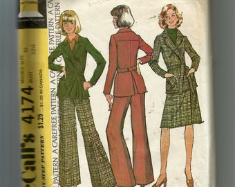 McCall's Misses' Unlined Jacket, Skirt and Pants 4174