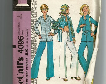 McCall's Misses' Unlined Jacket and Pants Pattern 4096