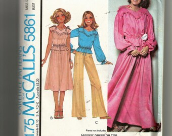 McCall's Misses' Dress or Top Pattern 5861