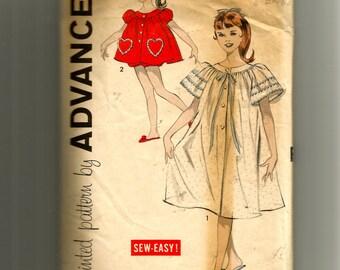 Advance Girls' Peignoir and Shortie Set Pattern 9215